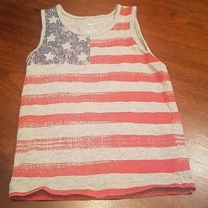 Carter's American Flag Tank, Red, White and Gray
